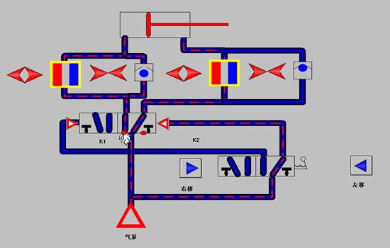 双作用气缸的速度控制回路